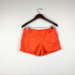 Banana Republic Ryan Fit Orange Pop Shorts